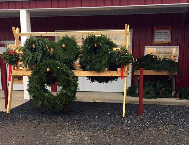 Christmas Wreaths & Greens at C&C Reading Farm - Plymouth County, Massachusetts